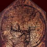 """Hereford Mappa Mundi Darkest Red Corners Large"" by TheNorthernTerritory"