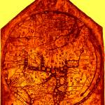 """Hereford Mappa Mundi Enhanced Amber Corners"" by TheNorthernTerritory"