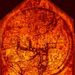 """Hereford Mappa Mundi 1300 Enhanced Darkest Red Cor"" by TheNorthernTerritory"