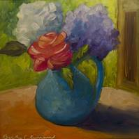 Mini Hydrangea and Rose Still-life