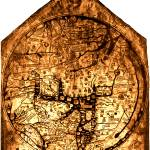 """Hereford Mappa Mundi 1300 Brown & Tan"" by TheNorthernTerritory"