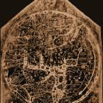 """Hereford Mappa Mundi 1300 Negative Image Brown Tan"" by TheNorthernTerritory"