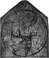 Hereford Mappa Mundi 1300 Black & White
