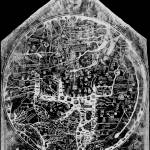 """Hereford Mappa Mundi 1300 Black & White Negative I"" by TheNorthernTerritory"