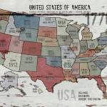 """""""The United States of America Map"""" by Aneri"""