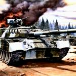 """Russain T 80 Tanks in Action"" by TheNorthernTerritory"