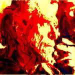 """BUKOWSKI IN THE RED."" by DADIO"