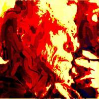 BUKOWSKI IN THE RED. Art Prints & Posters by Terry Collett