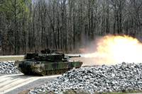 US Army M1 A1 Abrams Tank In Combat