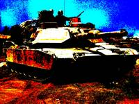 M1 Abrams Tank In Front Line Combat Conditons