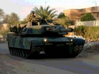 M1 Abrams Tank Late Afternoon Urban Patrol