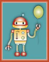 Robot With a Balloon