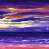 Red Sky at Night Art Prints & Posters by Christine Jones