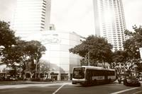 City in monochrome - Singapore Raffles City