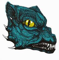 Snarling Dragon-Blue