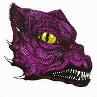 Snarling Dragon-Pink
