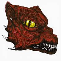 Snarling Dragon-Red