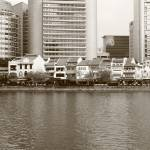 """Singapore River bw"" by sghomedeco"