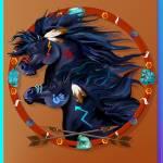 """Black Horse Mandala"" by Lotacats"