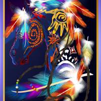 Bright Horse-dark Art Prints & Posters by Lotacats Fun Pix