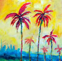 Sunny Palms - Abstract Palm Trees