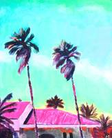Pink Villa - Abstract Abu Dhabi Painting