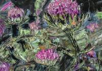 Thistles Abstract Oil Painting