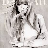 Bazaar cover. Taylor Swift. Art Prints & Posters by Kasia Blanchard