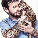 """Lil Bub and Her Dude"" by KellyEddington"
