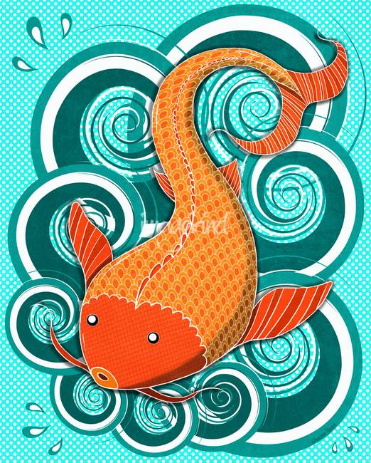 Stunning koi fish artwork for sale on fine art prints for Playing koi