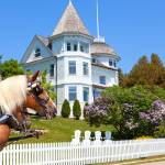 """Cottage on West Bluff Road - Mackinac Island"" by sterk"