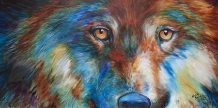 WOLF ABSTRACT 3618