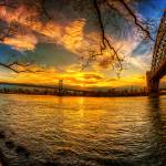 """Sunset Between Bridges"" by klingon65"