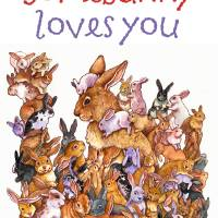 Somebunny Loves You Art Prints & Posters by Wendy Edelson