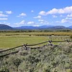"""Blue Sky Wyoming Landscape"" by Groecar"