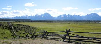 Teton Panorama with Fence