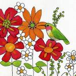"""Hummingbird on a Petal"" by BlendaStudio"