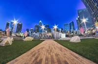 charlotte skyline at romare bearden park and bbt k