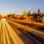 """early morning sunrise over charlotte city skyline"" by digidreamgrafix"