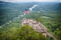 overlooking chimney rock and lake lure