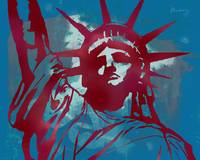 Statue Liberty - Pop Stylised Art Poster