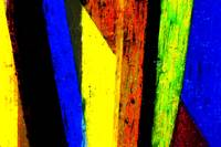 TWO YELLOWS & TWO BLUES - ABSTRACT PAINTED PHOTOGR