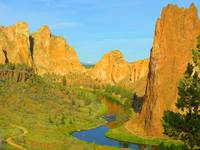 Downstream With The Canyon - Smith Rock State Park