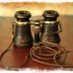 """Antique Binoculars - old world"" by Groecar"