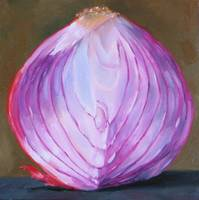 bisected red onion