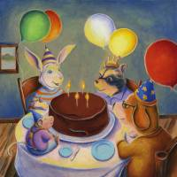 Animal Birthday Party Art Prints & Posters by Matthew Finger