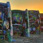 """Sunset at Cadillac Ranch - HDR"" by Gold41"