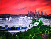 Dodger Stadium/ LA Skyline