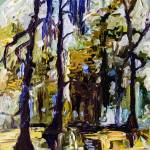"""""""Swamp Morning Modern Oil Mixed Media"""" by GinetteCallaway"""