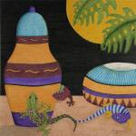 """Jars of Geckos"" by ArtbyJudyNewcomb"
